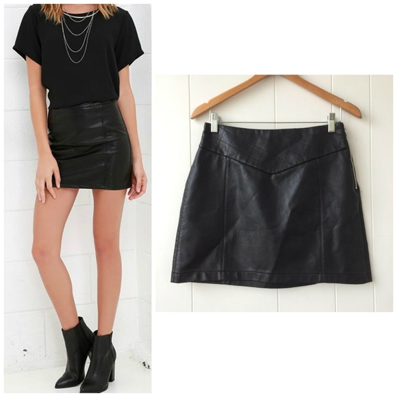 7f2a3e058e6f Zara ~ Black Faux Leather Mini Skirt - Small. M_5b439a0aaaa5b8ea7995917b